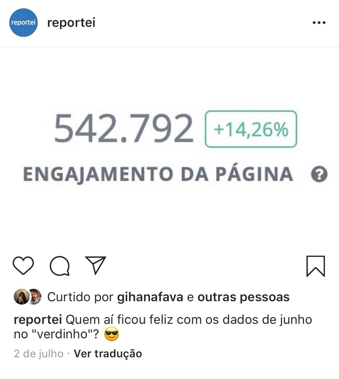 Nova visualização do Instagram