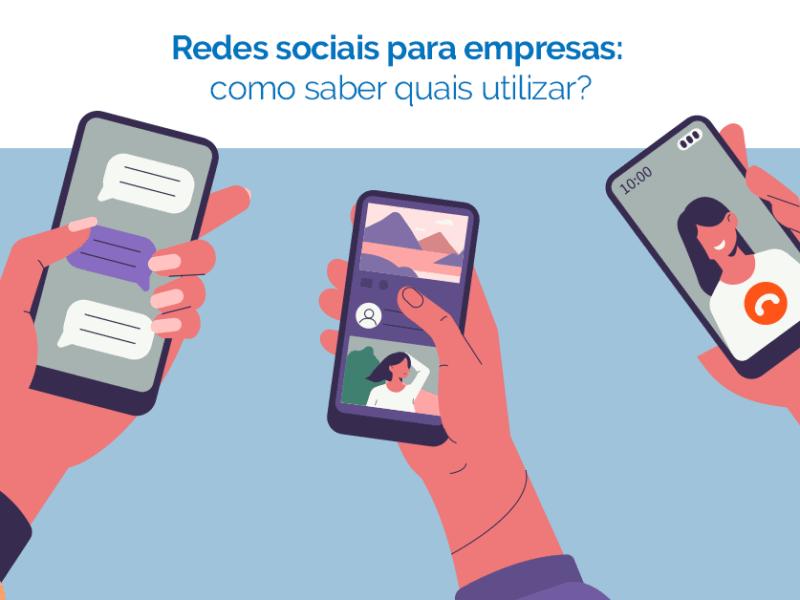 celulares mostrando redes sociais