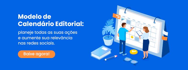Modelo de Calendário Editorial gratuito para marketing digital
