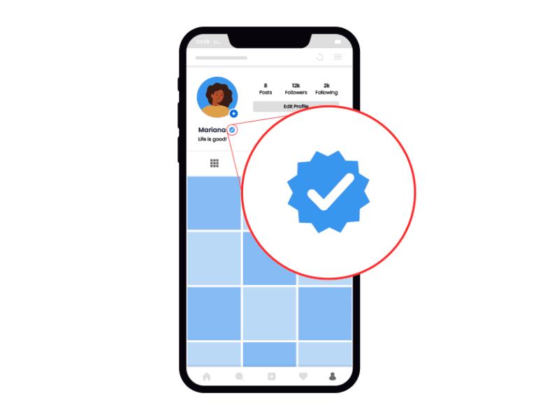 Perfil verificado en Instagram